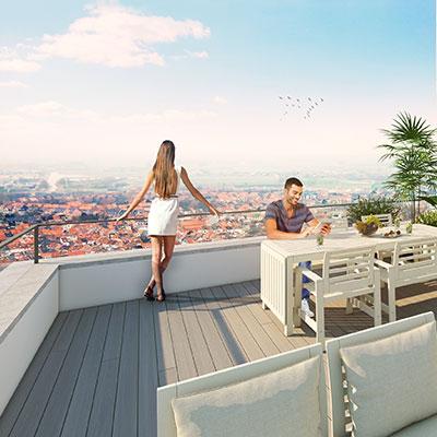 Zuidgerichte terrassen