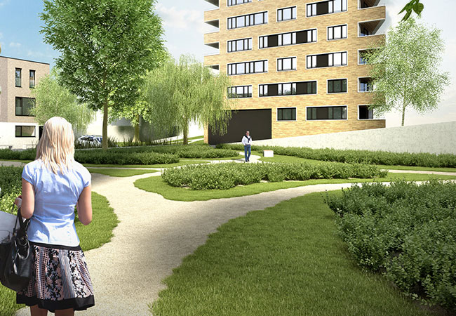 Appartement tuin