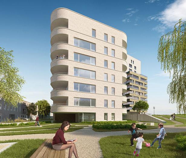 Ligging Residentie Oesterparel